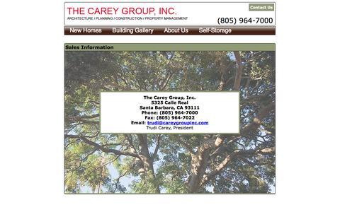 Screenshot of Contact Page careygroupinc.com - Contact Us - captured Oct. 7, 2014