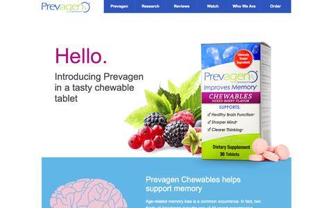 Screenshot of prevagen.com - Prevagen Chewables - Prevagen - captured Oct. 11, 2014