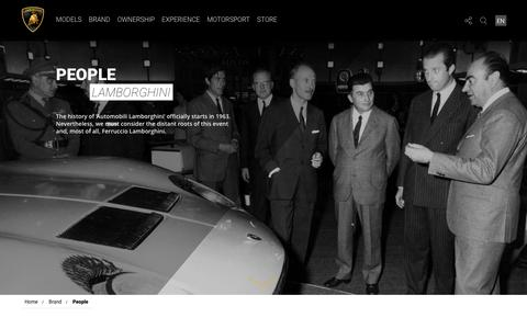 Screenshot of Team Page lamborghini.com - Lamborghini People | Lamborghini.Com - captured Nov. 21, 2016