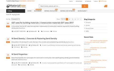 Screenshot of Blog materialtree.com - Building Materials Buying Guides - captured Oct. 19, 2017