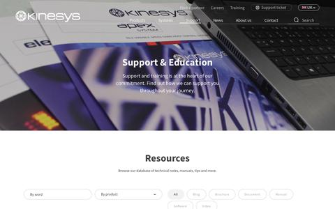 Screenshot of Support Page kinesys.co.uk - Resources Archive - Kinesys - captured Nov. 6, 2018