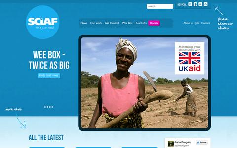 Screenshot of Home Page sciaf.org.uk - SCIAF - Scottish Catholic International Aid Fund - captured Oct. 1, 2014