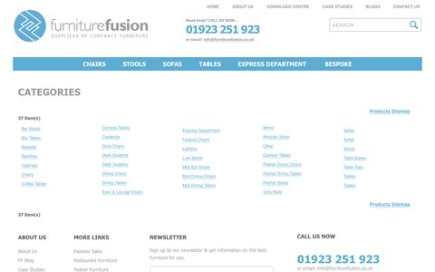 Screenshot of Site Map Page furniturefusion.co.uk - Site Map at Furniture Fusion - captured Jan. 8, 2016