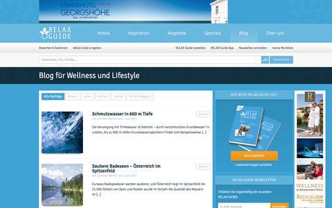 Screenshot of Blog relax-guide.com - Wellnessblog   RELAX Guide Hotelbewertung - captured June 29, 2017