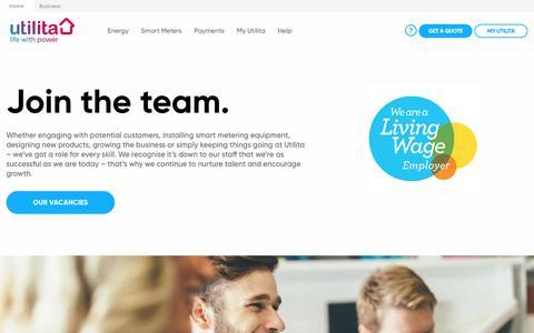 Screenshot of Jobs Page utilita.co.uk - Careers | Utilita Energy - captured April 19, 2019