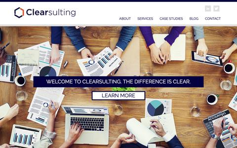 Screenshot of Home Page clearsulting.com - Welcome to Clearsulting - Expert Finance Transformation Solutions : Clearsulting - captured March 7, 2019