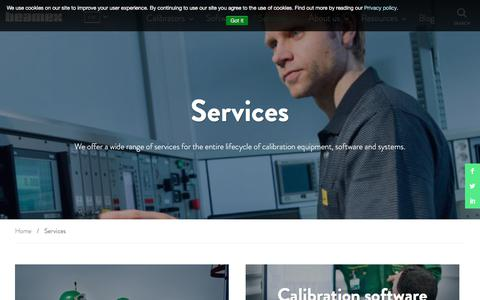Screenshot of Services Page beamex.com - Services   Beamex - captured Oct. 10, 2017