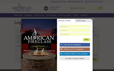 Screenshot of Login Page americanfireglass.com - American Fireglass - captured March 16, 2016