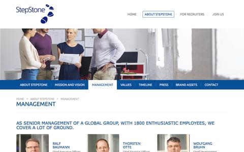 Screenshot of Team Page stepstone.com - StepStone - Management - captured Aug. 16, 2016