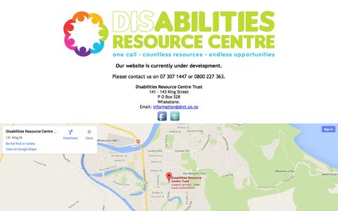 Screenshot of Contact Page drct.co.nz - Disability Resource Centre Trust - captured Oct. 4, 2014