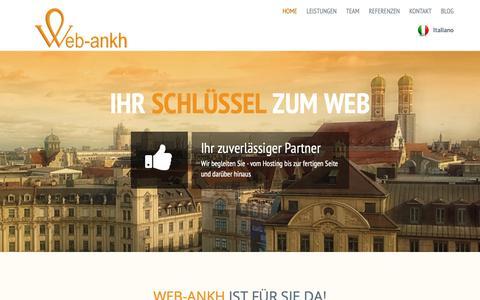 Screenshot of Home Page web-ankh.com - WEB-ANKH | - Ihr Schlüssel zum Web - Willkommen - captured Oct. 20, 2018