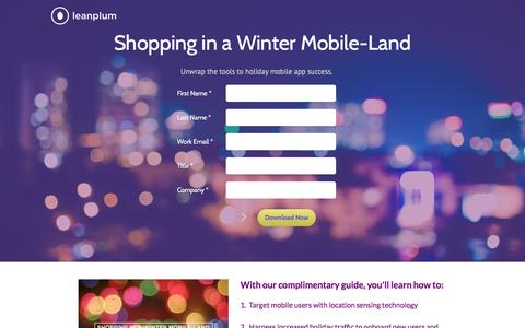 Screenshot of Landing Page leanplum.com - Leanplum's holiday guide - captured Dec. 10, 2015