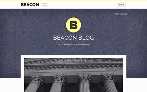 Screenshot of Blog beaconreader.com - Beacon Blog � Beacon - captured Nov. 14, 2015
