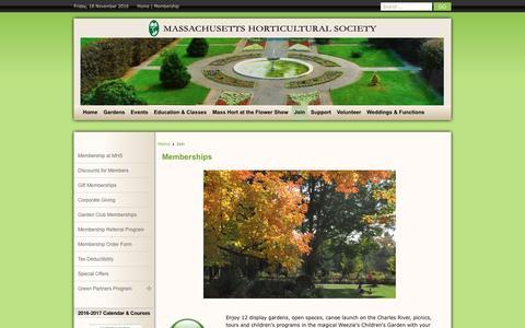Screenshot of Signup Page masshort.org - Memberships - captured Nov. 18, 2016