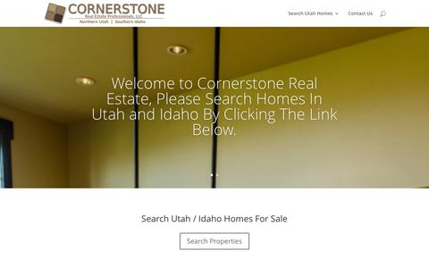 Screenshot of Home Page utahcornerstone.com - Real Estate In Northern Utah | Search For Property - captured Jan. 31, 2016