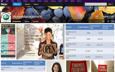 Screenshot of Flickr Page flickr.com - Flickr: MoneyManagement's Photostream - captured Oct. 26, 2014
