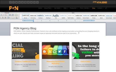 Screenshot of Blog pgnagency.com - PGN Agency Blog - captured Dec. 6, 2015