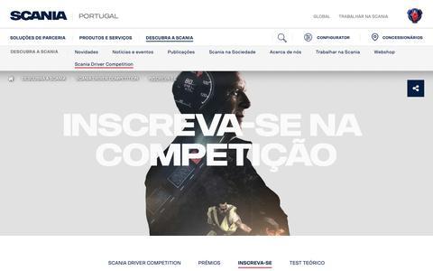 Screenshot of Signup Page scania.com - Inscreva-se | Scania Portugal - captured Oct. 27, 2018