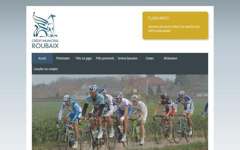 Screenshot of Home Page credit-municipal-roubaix.fr - Crédit Municipal de Roubaix - captured March 14, 2018