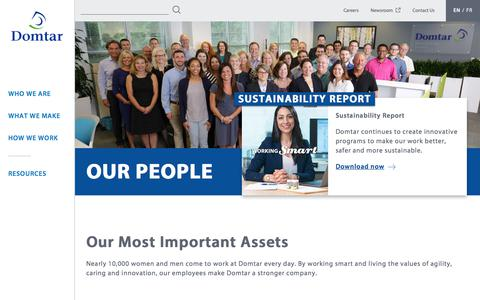 Screenshot of Team Page domtar.com - Our People   Domtar - captured May 9, 2018