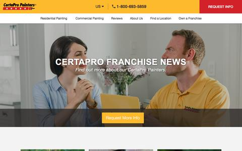 Screenshot of Press Page certapro.com - Franchise News Archive - CertaPro Painters - captured July 16, 2019