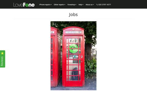 Screenshot of Jobs Page lovefone.co.uk - Jobs - Mobile Repairer - Lovefone, London - captured May 23, 2017