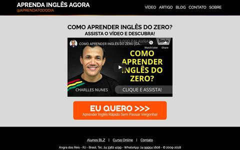 Screenshot of Home Page aprenda-ingles-agora.com - Inglês para Todos. Simples. Fácil. Divertido. - captured Oct. 23, 2018