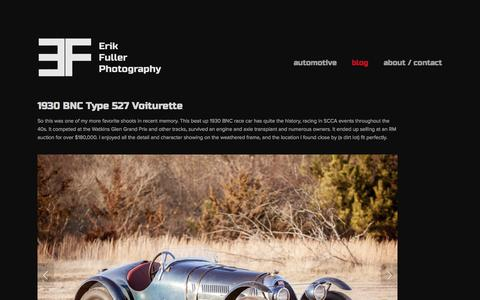 Screenshot of Blog erikfullerphotography.com - Blog — Erik Fuller Photography - captured Sept. 30, 2014