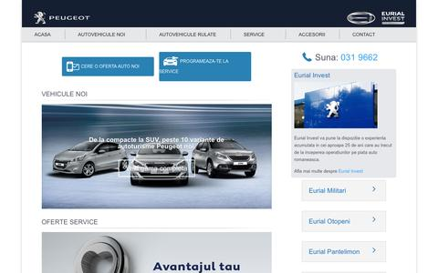 Screenshot of Home Page eurial.ro - Eurial Invest   Dealer auto noi si second hand - captured Jan. 24, 2016