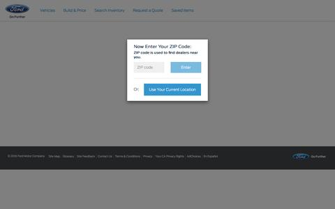Screenshot of Landing Page ford.com - 2017 Ford Mustang - Search Inventory - captured Aug. 17, 2016