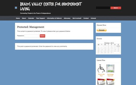 Screenshot of Team Page bvcil.org - Management | Brazos Valley Center for Independent Living - captured Oct. 5, 2014