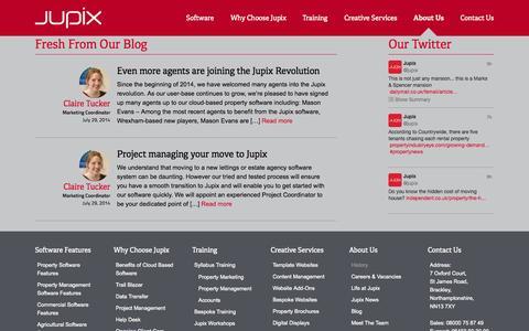 Screenshot of Testimonials Page jupix.com - Testimonials - Jupix - captured Sept. 19, 2014