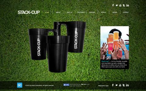 Screenshot of Home Page stack-cup.com - Stack-Cup - captured Aug. 16, 2016