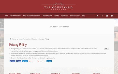 Screenshot of Privacy Page thecourtyardcheshire.com - Privacy Policy - captured Nov. 30, 2016