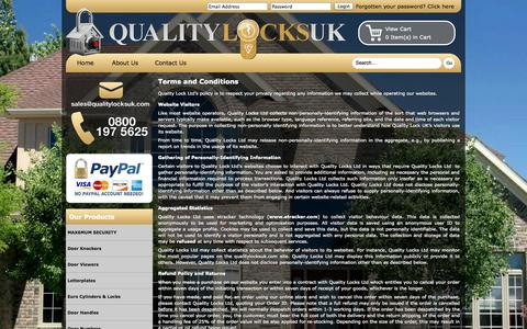 Screenshot of Terms Page qualitylocksuk.com - Quality Locks Ltd Terms and Conditions - captured Oct. 3, 2014