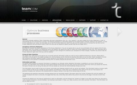Screenshot of Privacy Page teamcom.co.za - Teamcom | Privacy - captured June 12, 2017