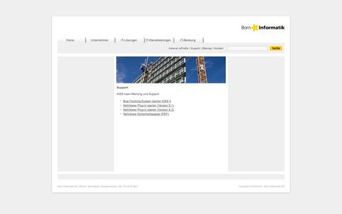 Screenshot of Support Page born.ch - Support: Born Informatik AG - captured Oct. 5, 2014