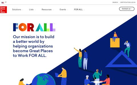Screenshot of About Page greatplacetowork.com - About - Great Place To Work United States - captured Sept. 30, 2018