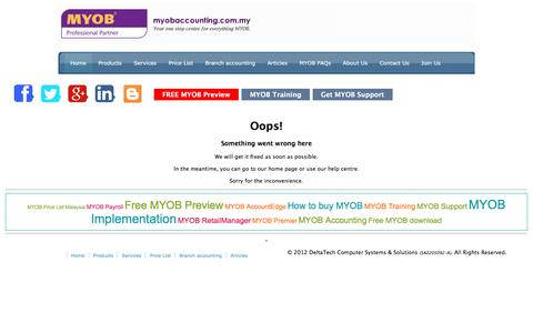 Screenshot of Contact Page myobaccounting.com.my - Your one stop centre for everything MYOB!   www.myobaccounting.com.my - captured Oct. 15, 2019