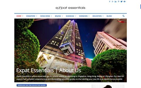 Screenshot of About Page expatessentials.net - Learn more about Expat Essentials relocation guides - captured Dec. 14, 2015