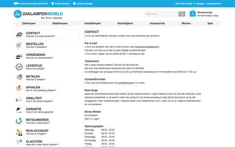 Screenshot of Privacy Page Contact Page zaklampenwereld.nl - Veelgestelde Vragen | Zaklampenwereld.nl - captured March 4, 2016