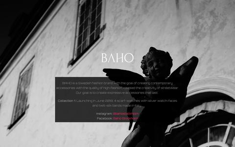Screenshot of About Page baho.se - ABOUT – BAHO - captured Oct. 5, 2018