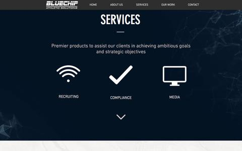 Screenshot of Services Page Press Page bluechipone.com - bluechip | SERVICES - captured Oct. 10, 2017