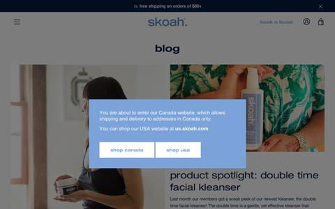 Screenshot of Press Page skoah.com - blog – skoah - captured Sept. 22, 2018