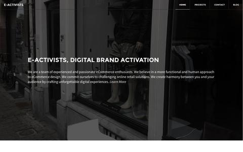 Screenshot of Home Page e-activists.com - e-Activists | Digital Brand Activation - captured Sept. 30, 2014