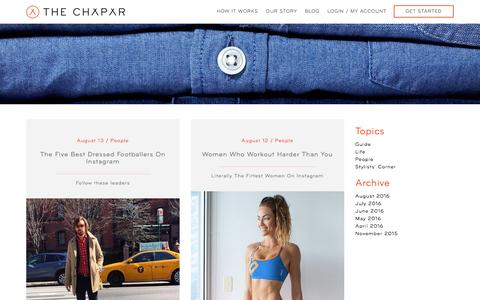 Screenshot of Blog thechapar.com - Blog | Personal Styling Service for Men | The Chapar - captured Aug. 14, 2016