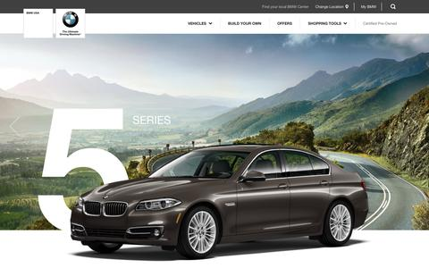 Screenshot of bmwusa.com - BMW 5 Series Overview - BMW North America - captured Dec. 11, 2016