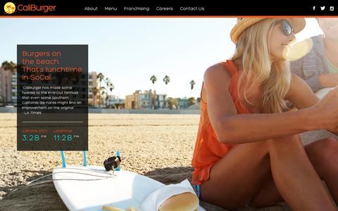 Screenshot of Home Page caliburger.com - CaliBurger - captured Jan. 22, 2015