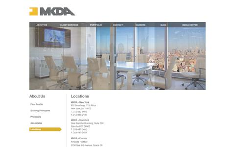 Screenshot of Locations Page mkda.com - Locations | MKDA - captured Sept. 30, 2014
