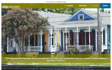 Screenshot of Home Page urbanconservancy.org - Urban Conservancy New Orleans-based nonprofit - captured Feb. 15, 2016
